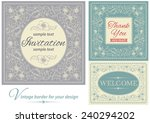 vintage invitations and frames. ... | Shutterstock .eps vector #240294202