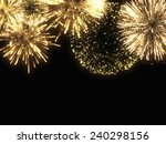 a spark of black background  ... | Shutterstock . vector #240298156