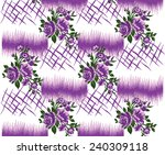 vector pattern with hand drawn... | Shutterstock .eps vector #240309118