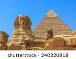 The Sphinx And Pyramid Of...