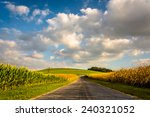 Country Road And Large Hill ...