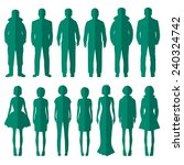 vector group of standing people ... | Shutterstock .eps vector #240324742