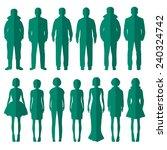 vector group of standing people ... | Shutterstock .eps vector #240324742
