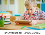 clever learner with digital... | Shutterstock . vector #240326482