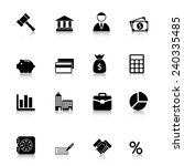 business icons set with...   Shutterstock .eps vector #240335485