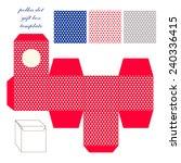 cute retro square polka dots...   Shutterstock .eps vector #240336415