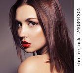 beauty close up portrait of a... | Shutterstock . vector #240344305