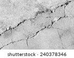 black and white cracked floor... | Shutterstock . vector #240378346