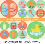 baby icons set made in flat... | Shutterstock .eps vector #240379942