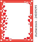 a red border featuring hearts...   Shutterstock .eps vector #24039295