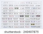 exhibitor of glasses consisting ... | Shutterstock . vector #240407875