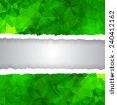 abstract green triangular...   Shutterstock .eps vector #240412162