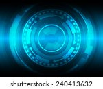 circle blue abstract technology ... | Shutterstock .eps vector #240413632