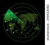 air traffic control radar   Shutterstock .eps vector #240423082