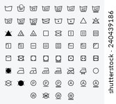 icon set of laundry  washing... | Shutterstock .eps vector #240439186