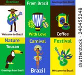 Brazil Mini Poster Set With...