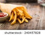 Fresh Fried French Fries With...