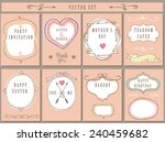 doodles labels badges frame... | Shutterstock .eps vector #240459682