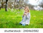 adorable little girl in... | Shutterstock . vector #240463582