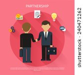 partnership concept.... | Shutterstock .eps vector #240471262