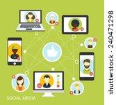 social media avatar network... | Shutterstock .eps vector #240471298