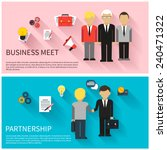concept for business meeting ... | Shutterstock .eps vector #240471322
