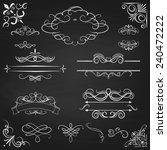 vintage borders calligraphic...   Shutterstock .eps vector #240472222