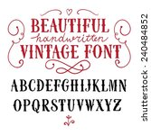 hand drawn vintage vector abc... | Shutterstock .eps vector #240484852