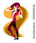 vector actor in carnival... | Shutterstock .eps vector #240496426