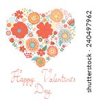happy valentines day card with... | Shutterstock .eps vector #240497962