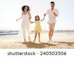 family on beach   Shutterstock . vector #240503506