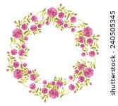 flower wreath with decorative... | Shutterstock .eps vector #240505345