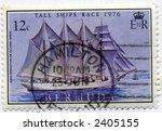 canceled postage stamp ephemera bermuda - stock photo