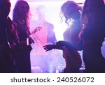 Stock photo deejay and dancing girls 240526072