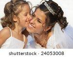 Flower Girl Kiss The Bride