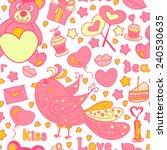 seamless pattern for valentine... | Shutterstock .eps vector #240530635