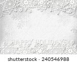 snowflakes paper  on white... | Shutterstock . vector #240546988