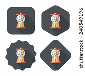 gum ball machine flat icon with ... | Shutterstock .eps vector #240549196