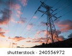 high voltage electric... | Shutterstock . vector #240556972