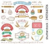 vintage retro bakery badges... | Shutterstock .eps vector #240566056
