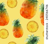pineapple seamless pattern | Shutterstock .eps vector #240566746