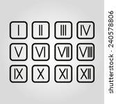 the set roman numerals 1 12... | Shutterstock .eps vector #240578806