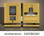 book cover design in gold and... | Shutterstock .eps vector #240580282