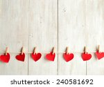 red heart paper cut with... | Shutterstock . vector #240581692