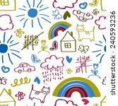 children's painting background  ... | Shutterstock .eps vector #240593236