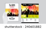 layout magazine and website ... | Shutterstock .eps vector #240601882