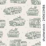 military machines sketch... | Shutterstock .eps vector #240613486