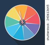 rainbow roulette wheel   Shutterstock .eps vector #240613645