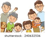 family  home  three generation  ... | Shutterstock . vector #240632536