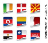 set of world sticker flags.... | Shutterstock . vector #240638776